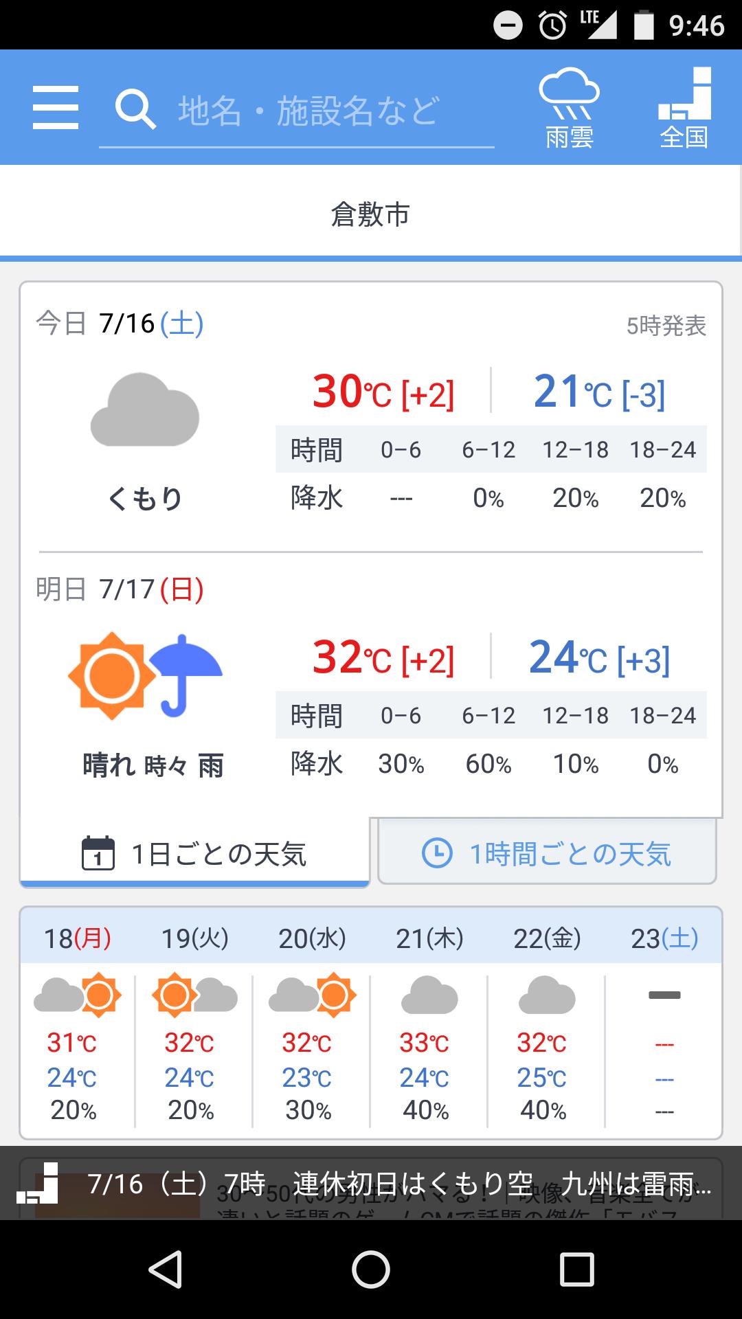 倉敷 市 天気 予報